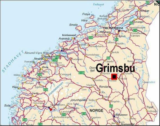 kart hjerkinn Grimsbu Turistsenter Motell og camp.Turistsenteret in Folldal  kart hjerkinn